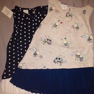 NWT Baby GAP 2 Dress Bundle w/Diaper Covers